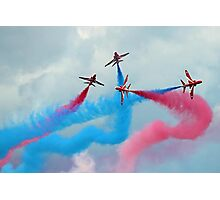 The Red Arrows Gypo Break - Dunsfold 2014 Photographic Print