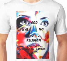 Gandhi Spiritual Quotation God Has No Religion Unisex T-Shirt