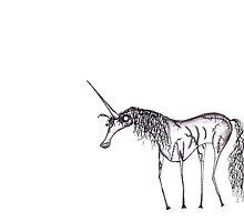 Zombie Unicorn by DismalDrawings