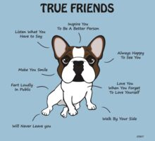 True Friends Frenchie  Kids Tee