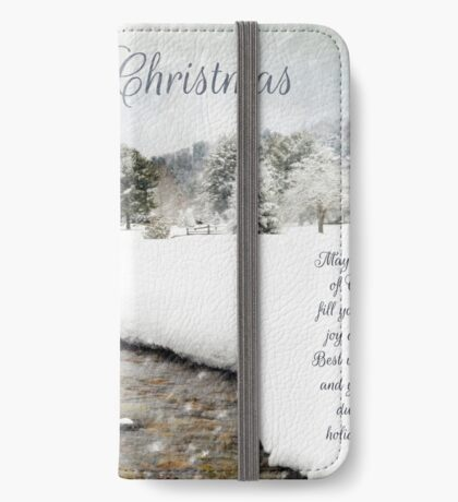 Merry Christmas Card  iPhone Wallet/Case/Skin