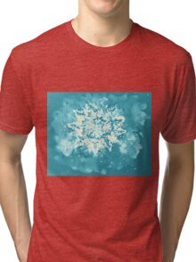 Colorful watercolor painting of snowflake. Illustration Tri-blend T-Shirt