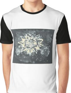 Colorful watercolor painting of snowflake. Illustration Graphic T-Shirt