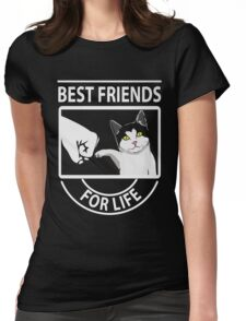 Cat best friends for life xmas shirt Womens Fitted T-Shirt