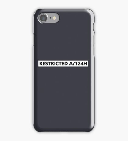 RESTRICTED A/124H - HUMANS iPhone Case/Skin