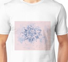 Colorful watercolor painting of snowflake. Illustration Unisex T-Shirt