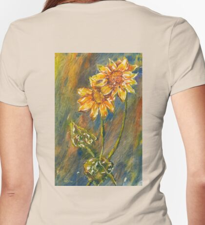 Fall Blooms Womens Fitted T-Shirt