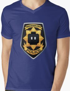 Bricksburg Police Mens V-Neck T-Shirt
