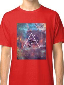 Geometric Om Galaxy Triangle Classic T-Shirt