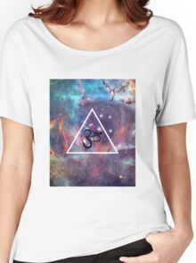 Geometric Om Galaxy Triangle Women's Relaxed Fit T-Shirt