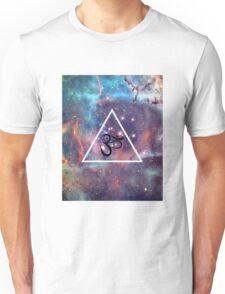 Geometric Om Galaxy Triangle Unisex T-Shirt