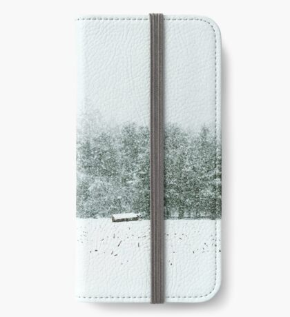 Barn in a Blizzard iPhone Wallet/Case/Skin