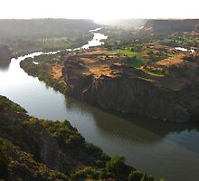 The Snake River Going Through Twin Falls, Idaho by trueblvr