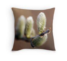 Reaching Out for Springtime  Throw Pillow