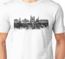Amiens skyline in black watercolor Unisex T-Shirt