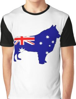 Australian Flag - Schipperke Graphic T-Shirt