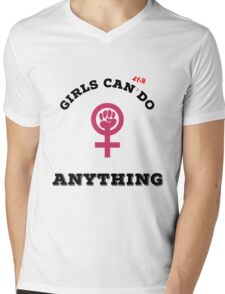 Girls can still do anything Mens V-Neck T-Shirt