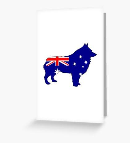 Australian Flag - Schipperke Greeting Card