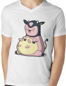 Milk Mc Milkface Mens V-Neck T-Shirt