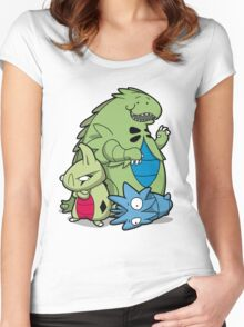 Terrific Tyrannic Dinosaurs Women's Fitted Scoop T-Shirt