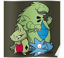 Terrific Tyrannic Dinosaurs Poster