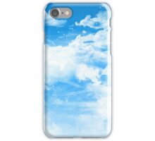 Blue Sky and Clouds iPhone Case/Skin