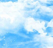 Blue Sky and Clouds Sticker