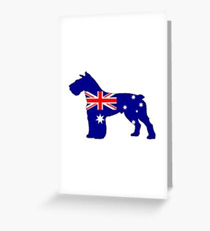 Australian Flag - Schnauzer Greeting Card
