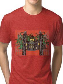 haunted house Tri-blend T-Shirt
