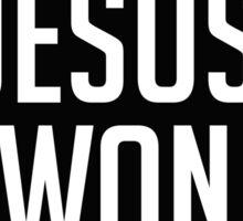 Jesus Won Sticker