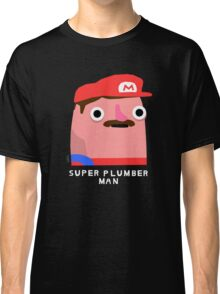 Super plumber man (white text) Classic T-Shirt