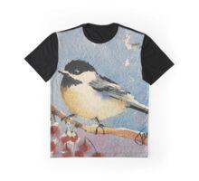 Berry Chickadee Graphic T-Shirt
