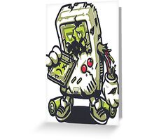 Zombie Game boy Greeting Card