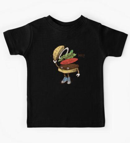 Burger Greeting Kids Tee