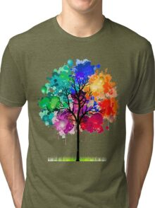 tree abstract Tri-blend T-Shirt