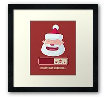 Christmas 2017 is better with smile santa face Framed Print