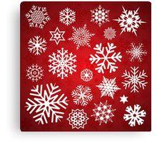 Christmas Snow flakes Canvas Print