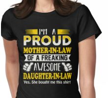 Proud Mother In Law Of Awesome Daughter In Law T-Shirt Womens Fitted T-Shirt