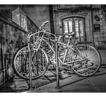 Parking Lot of Bicycles Photographic Print