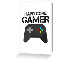 Game Console Black Joystick Greeting Card