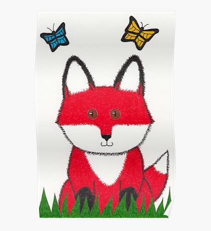 Ferdinand the Red Fox Art Poster