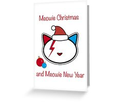 Meowie Christmas and Meowie New Year 3 Greeting Card