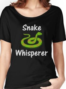 Snake Whisperer Graphic Pet Reptile T-Shirt Women's Relaxed Fit T-Shirt