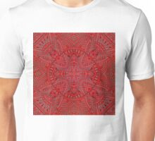 Carving in crimson red. Unisex T-Shirt