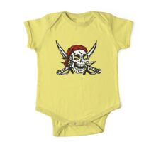 Cranium Swords and Red Scarf  One Piece - Short Sleeve