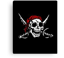 Cranium Swords and Red Scarf  Canvas Print