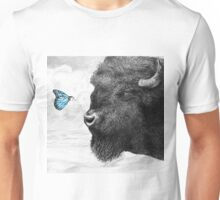 Bison and Butterfly Unisex T-Shirt