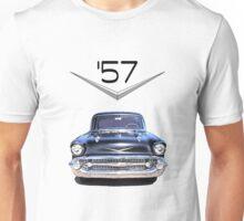 57 Chevy - Front View - Chromework Logo Unisex T-Shirt