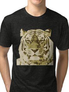 Tiger head in three colors Tri-blend T-Shirt