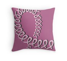 SUPPORT (Breast Cancer Awareness) Throw Pillow